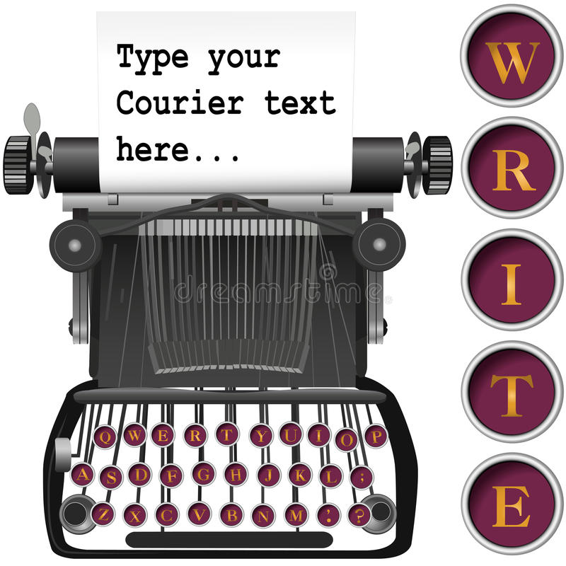 Download Keys On Antique Typewriter Background Copyspace Stock Vector - Illustration: 9749656