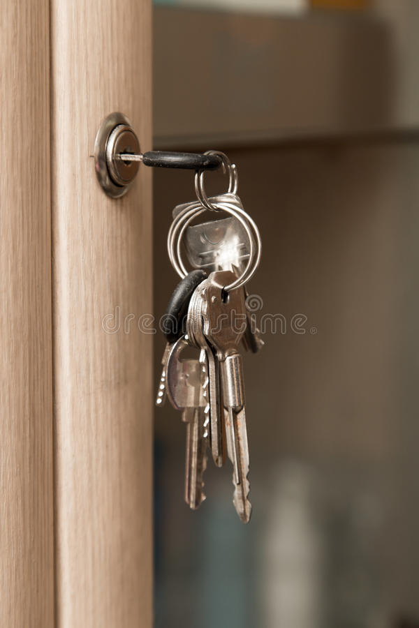 Keys on the cabinet stock photo