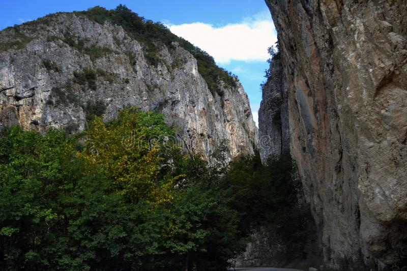 Keys and caves in picturesque Romania 1. The Olteţ Keys are located along the Olteţ River on a natural area between the Căpăţânii Mountains and stock images