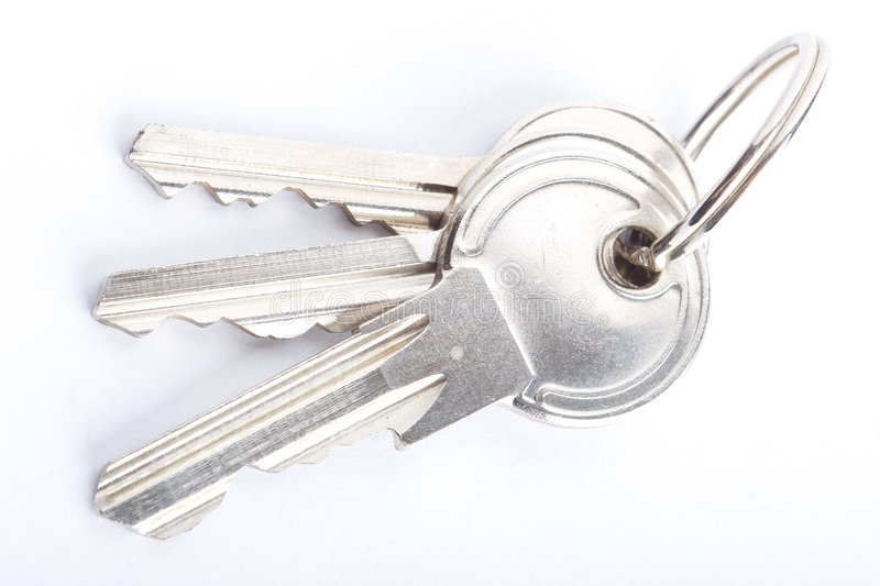 Download Keys CloseUp Isolated stock photo. Image of three, macro - 4245402