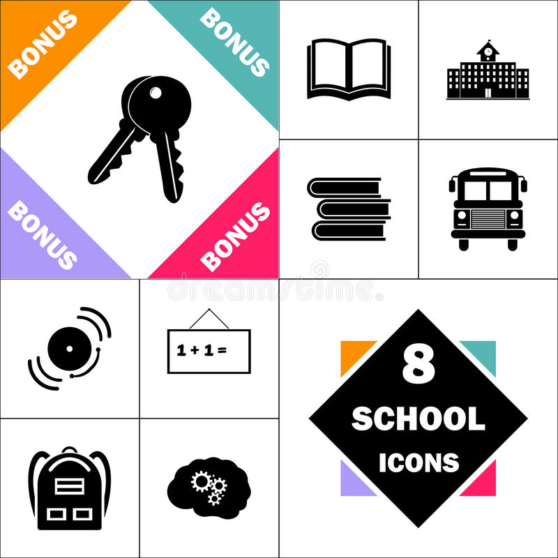 Keys computer symbol vector illustration
