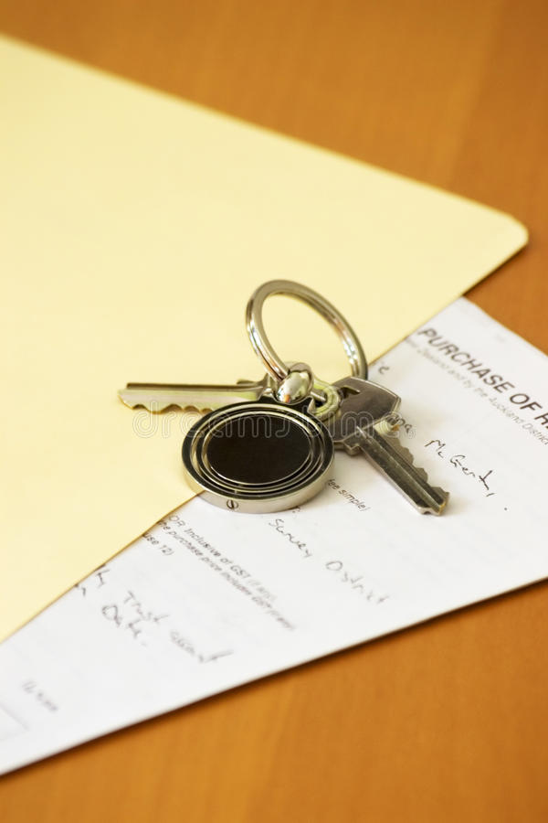 Download Keys and Contract stock image. Image of empty, folder - 27858759