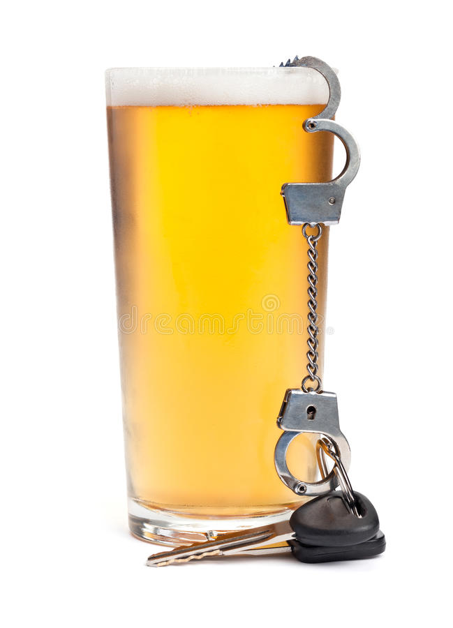 Download Keys, Cuffs, and Alcohol stock image. Image of arrested - 28780349