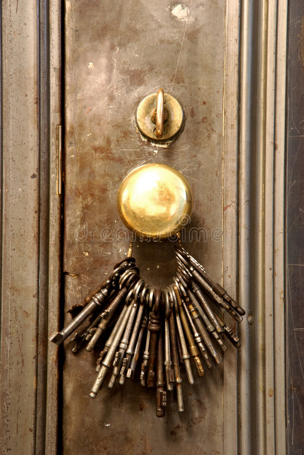 Keys On A Door Stock Image
