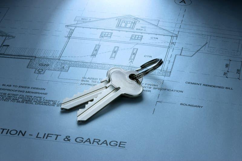 Keys House Dream Home Plans stock images