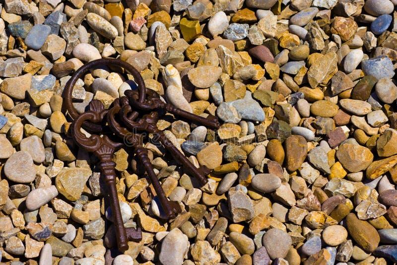 Keys on  stones royalty free stock photo