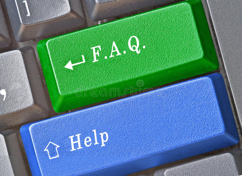 Download Keys for FAQ and help stock image. Image of keyboard - 16495477