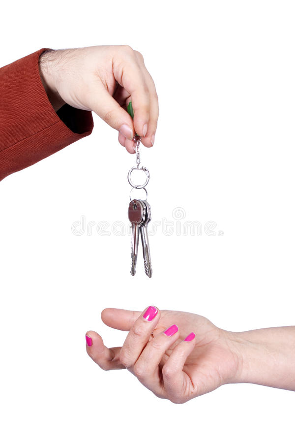 Keys Giving Hand Royalty Free Stock Photography