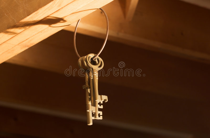 Keys hanging from Rafters (Horizontal)