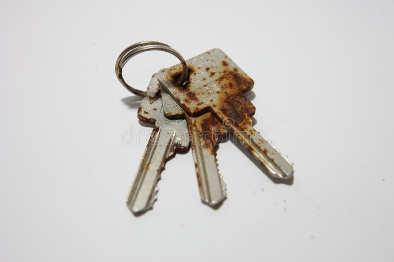 The keys have rusted stock images