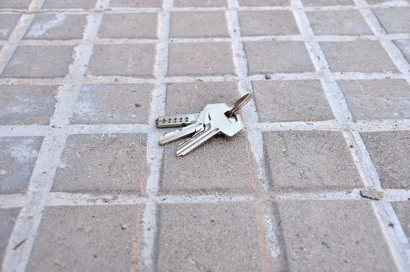 Lost keys of home stock photo