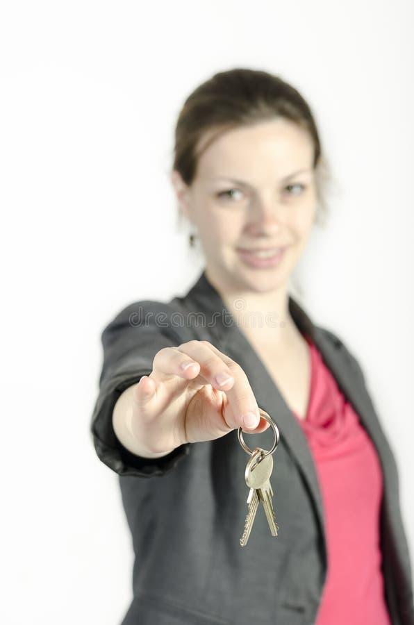 Keys from home stock photo