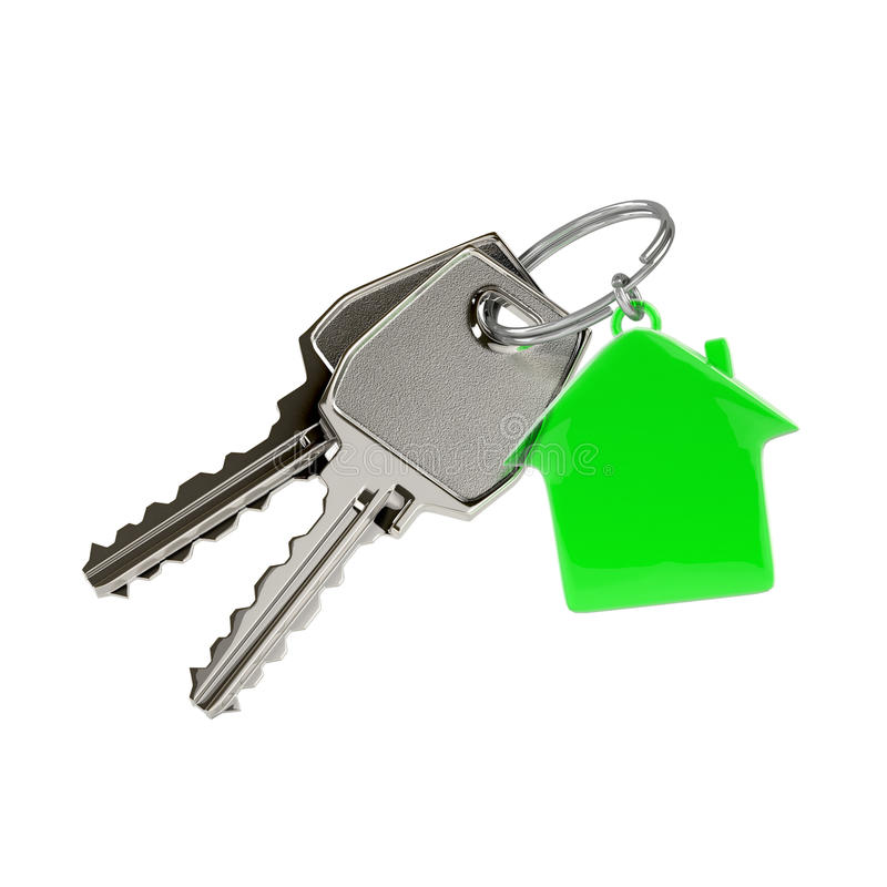 Keys with a house pendant. royalty free illustration