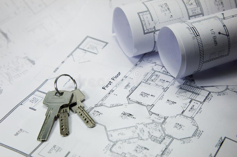 Download Keys On House Plan Royalty Free Stock Images - Image: 19145329