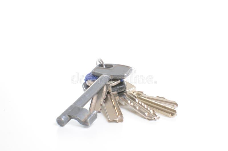 Keys isolated on white royalty free stock image