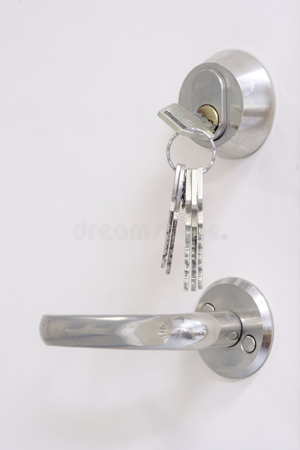 Download Keys, Keyhole And Doorhandle Stock Photography - Image: 2625922