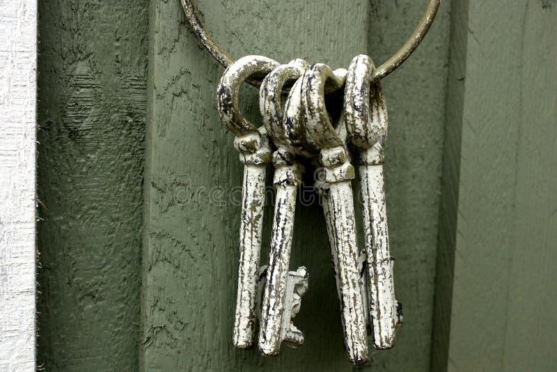keys manusckript στοκ φωτογραφία