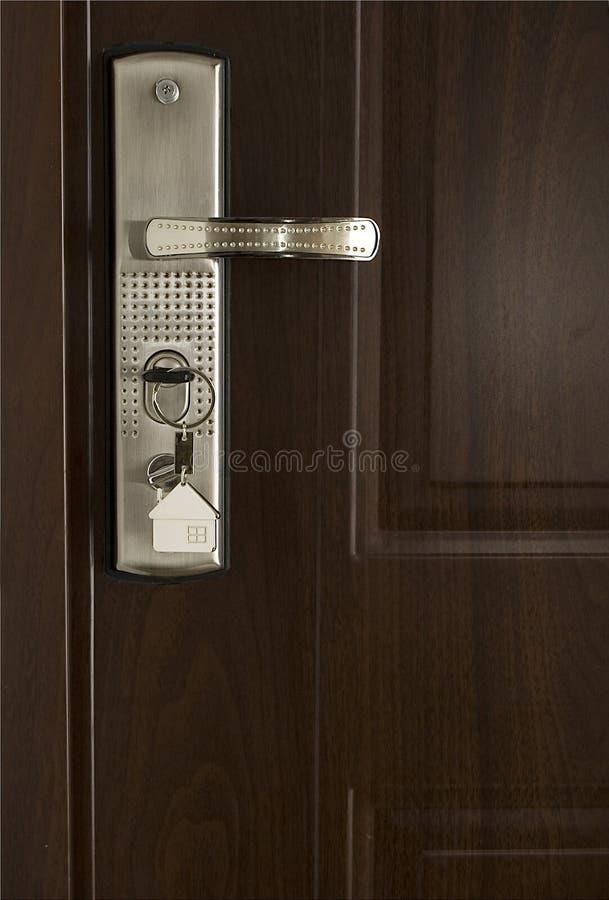 Keys and modern door stock photography
