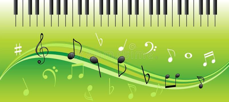 keys musikanmärkningspianot royaltyfri illustrationer