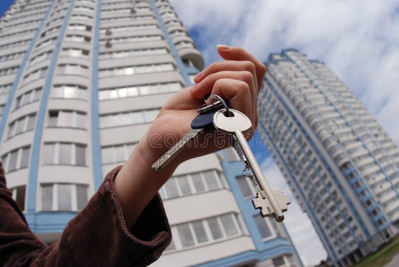 Keys from new flat royalty free stock photos