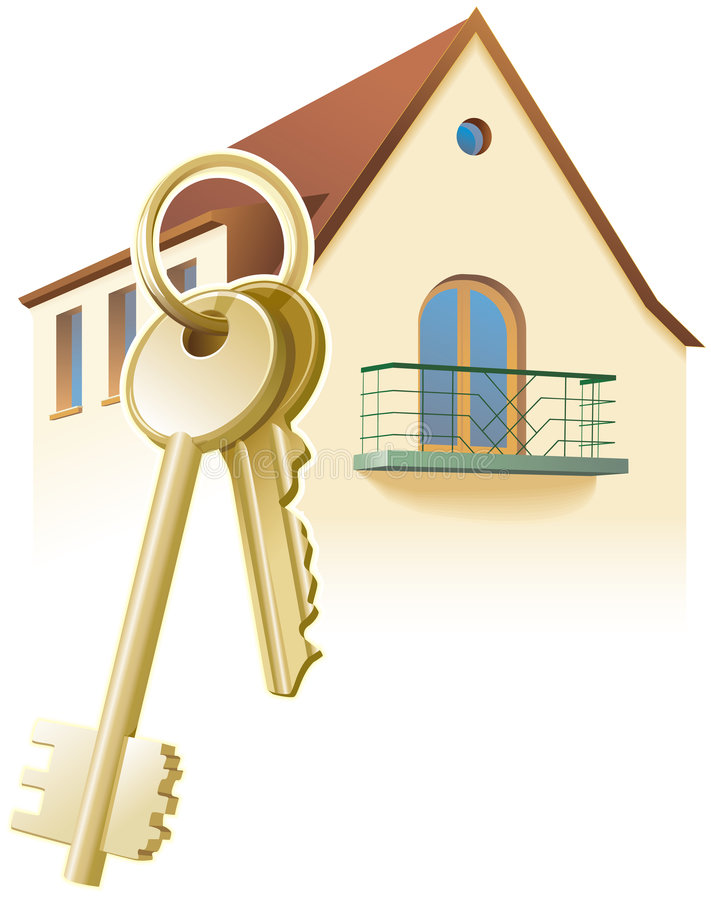 Free Keys, New Home, Realty. Vector Royalty Free Stock Image - 2312356