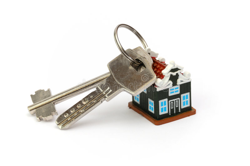 Keys from new house stock images