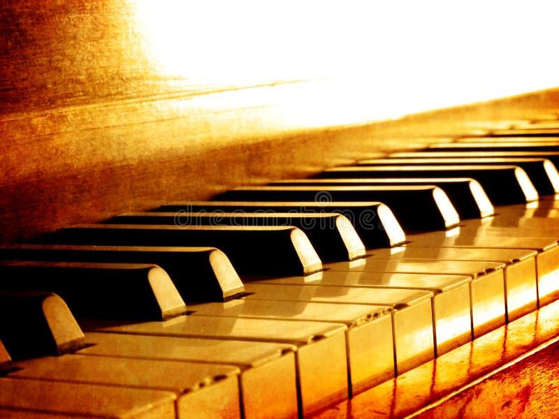 keys pianosepia arkivfoton
