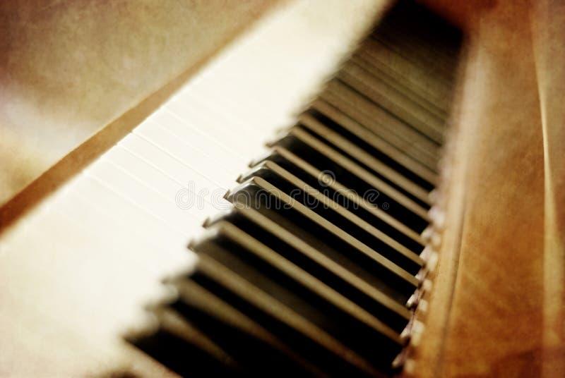 keys pianosepia royaltyfria foton