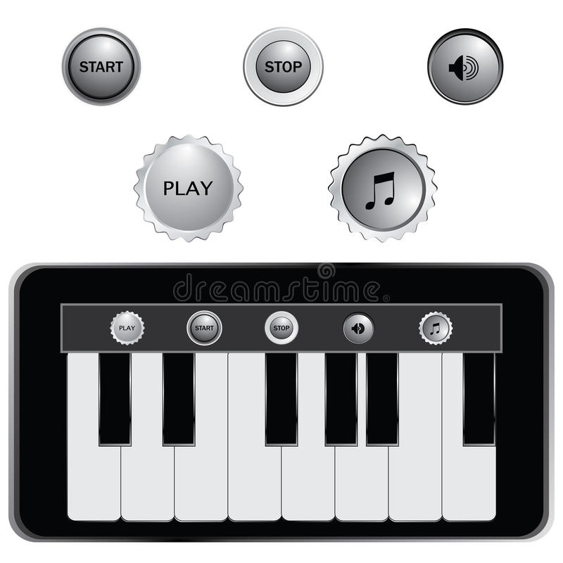 keys pianot stock illustrationer