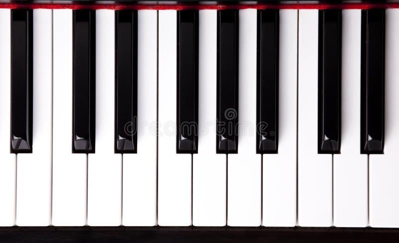 keys pianot arkivfoton