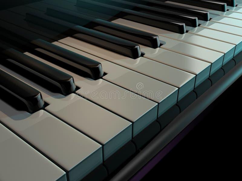 keys pianot royaltyfri illustrationer