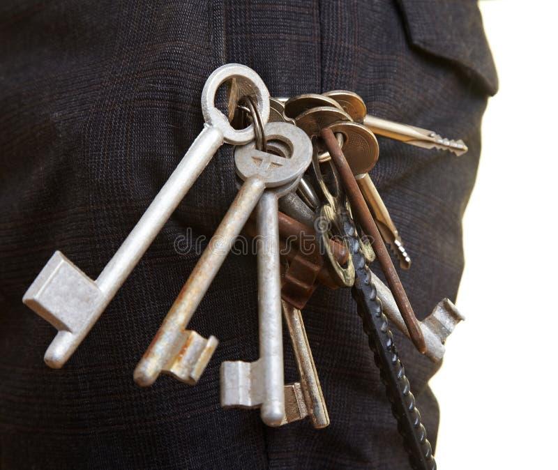 Keys in pocket stock photos