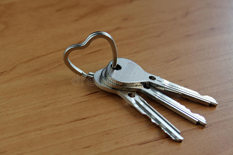 Keys on the ring royalty free stock images