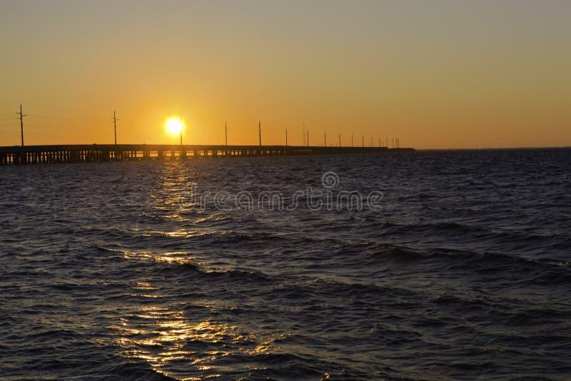 keys solnedgång royaltyfria bilder