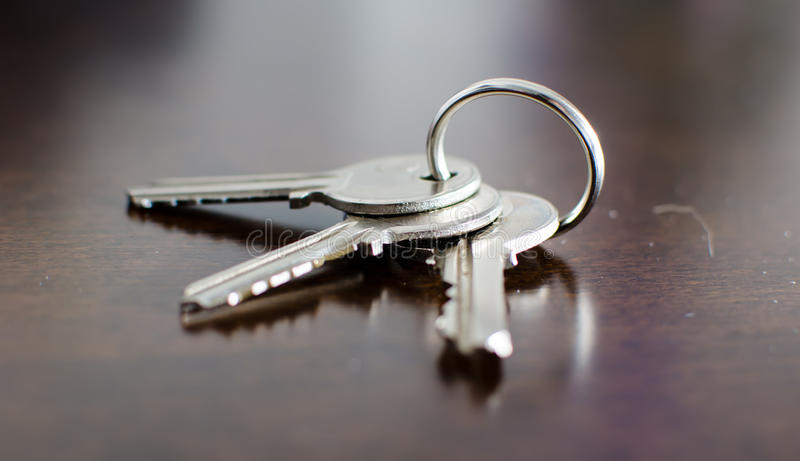 House keys on a table stock photo. Image of homeowner ...