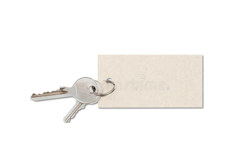 Keys with tag stock images