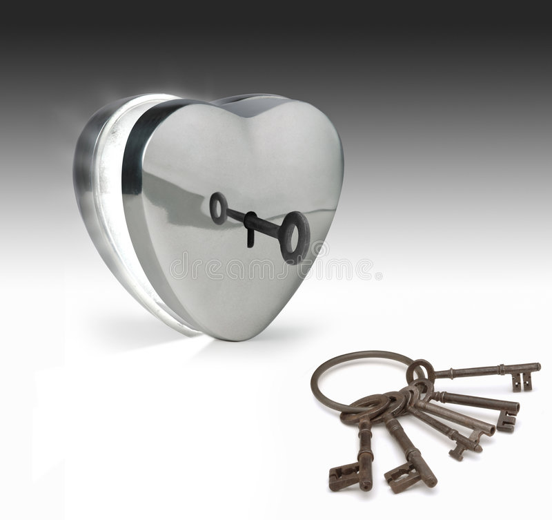 Keys to the heart royalty free stock photography
