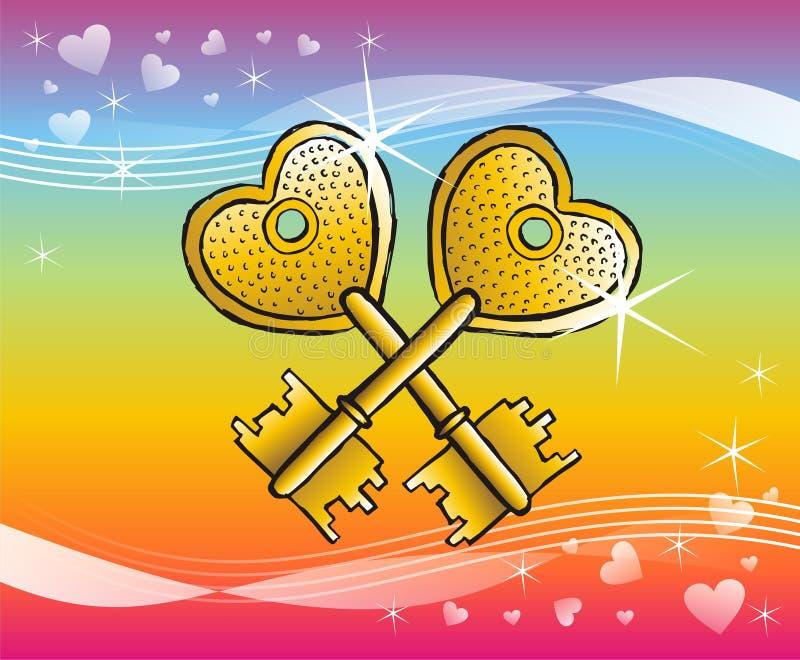 Keys to heart stock photo