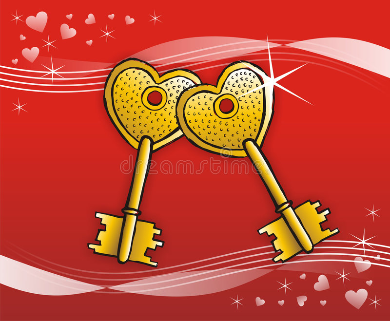 Keys to heart real state royalty free stock photography