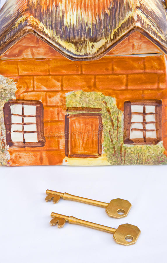 Keys to a new home. stock photography