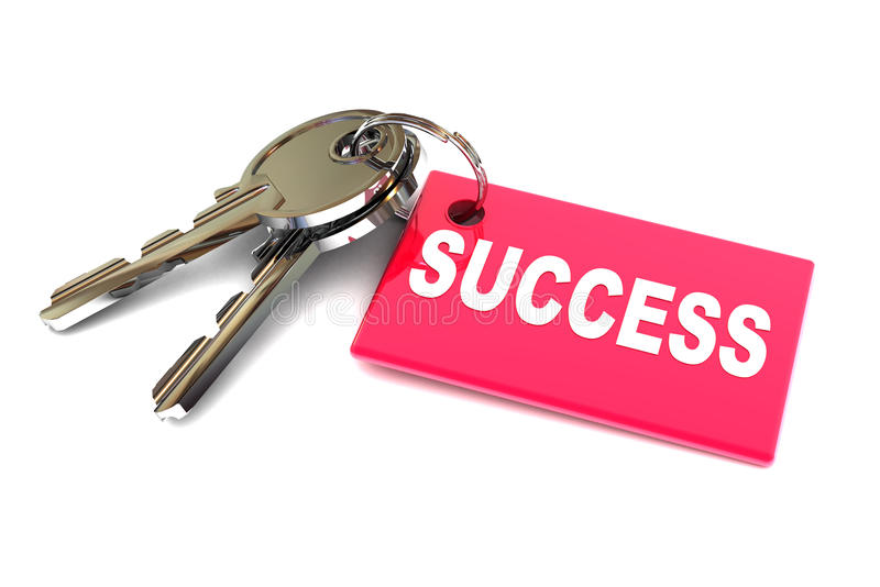 Keys to Success. A Colourful 3d Rendered Keys to Success Concept Illustration stock illustration