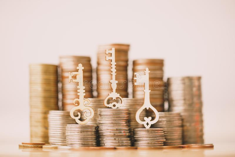 Keys to success. stock photo