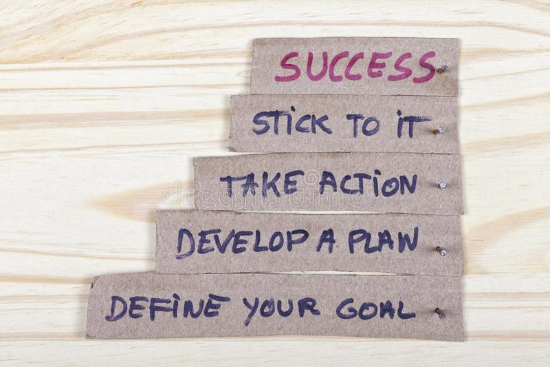 The keys to success with your plans royalty free stock photo