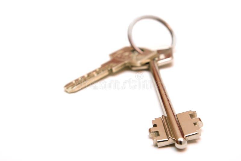 Keys on a white background stock photography