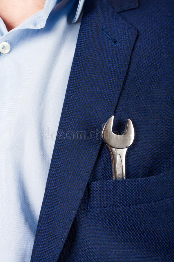 Keys in your pocket suit royalty free stock photos