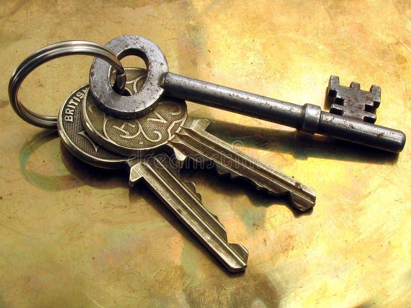 Keys031105. Bunch of keys royalty free stock photos