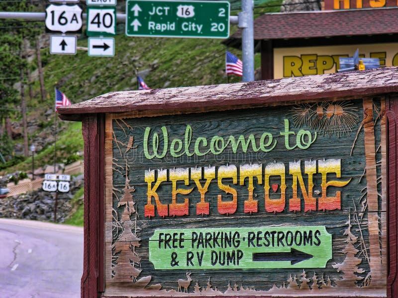 Keystone, South Dakota stock photography