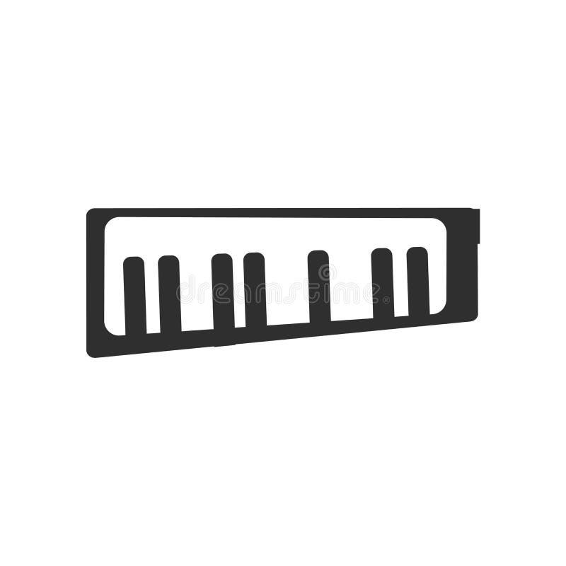 Keytar ikony wektoru znak i symbol odizolowywający na białym tle, Keytar logo pojęcie ilustracja wektor