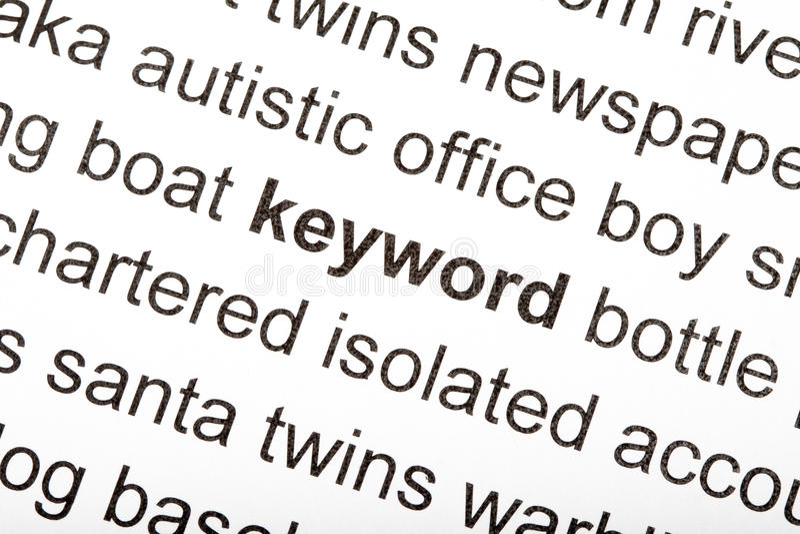 Keyword stock images