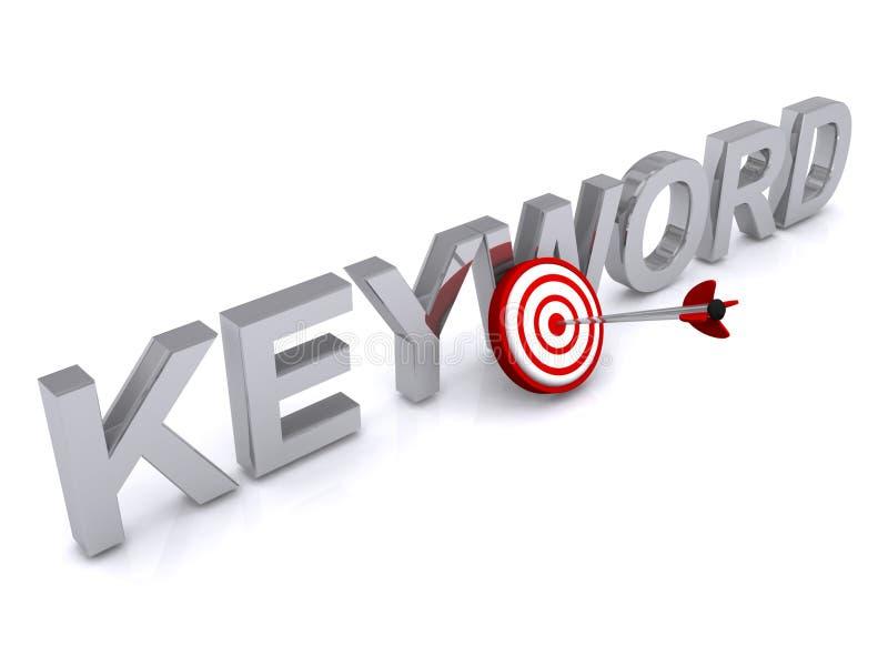keyword illustrazione vettoriale